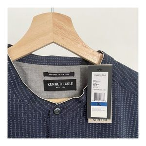 Kenneth Cole Mandarin collar button up shirt